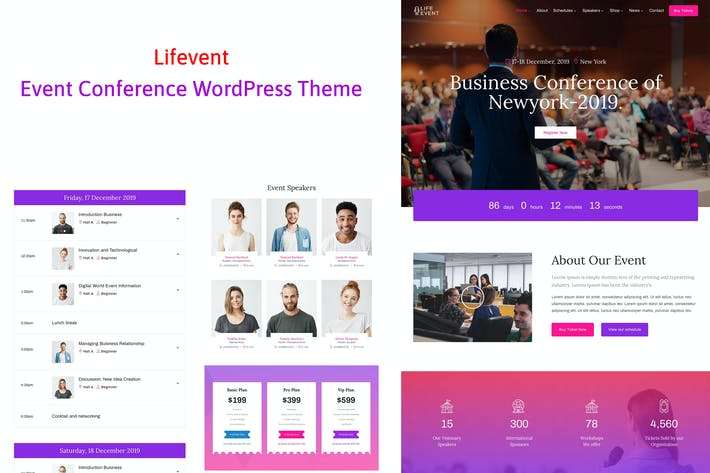 Lifevent - Conference Event WordPress Theme