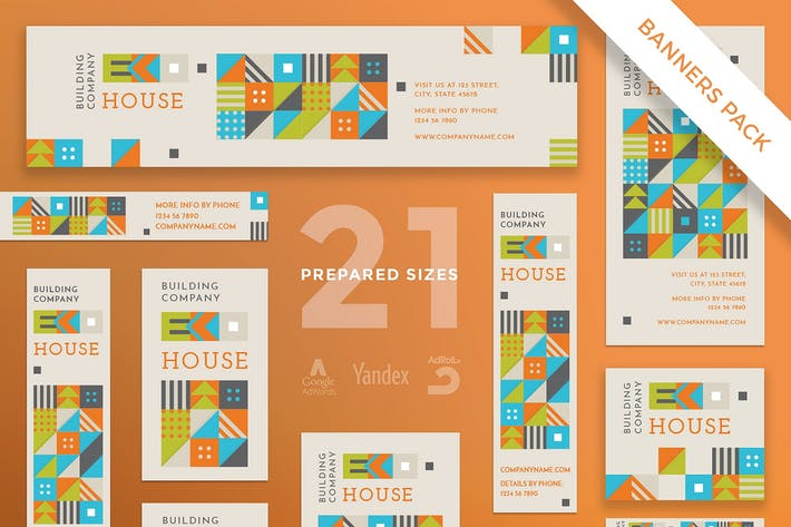 Eco House Banner Pack Template