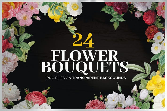 Thumbnail for 24 Colorful Flower Bouquets Collection