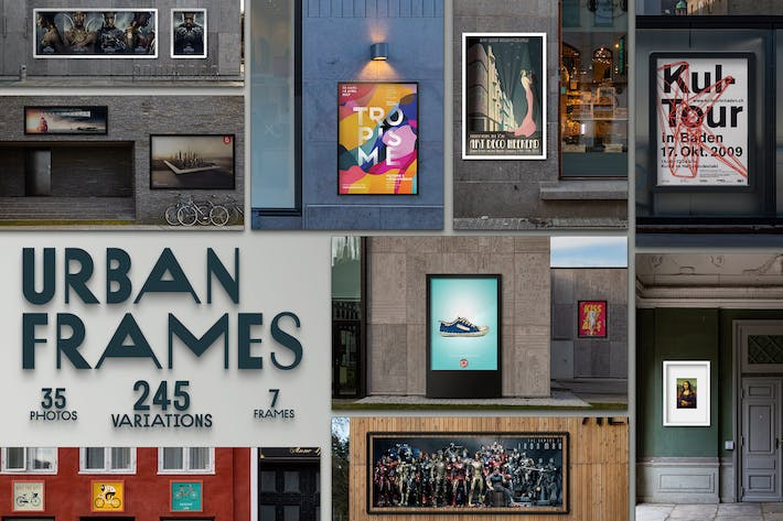 Thumbnail for Urban Frames mockups