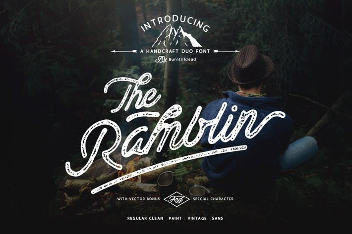 Thumbnail for Ramblin Font Duo