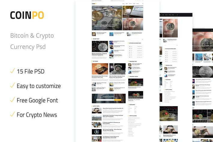 Thumbnail for Coinpo | Bitcoin & Crypto Currency PSD Template