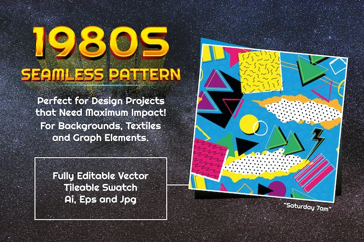 Thumbnail for 1980s Seamless Pattern