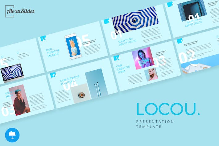 Thumbnail for Locou - Fashion Keynote Template