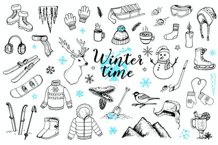 Winter Time Doodles