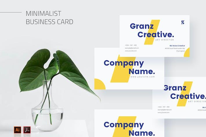 Mytemp - Minimalist Business Card v9