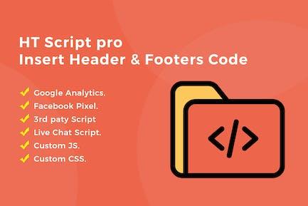 HT Script Pro - Inserte el Código de encabezados y pies de página