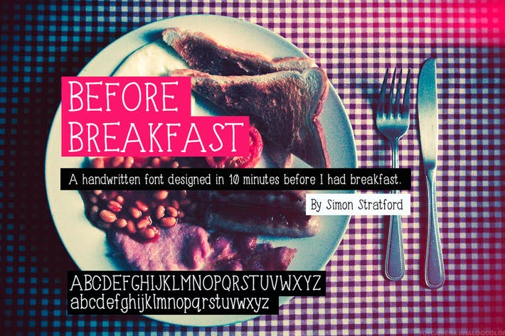 Cover Image For Before Breakfast font