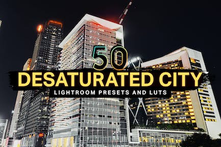 50 Desaturated City Lightroom Presets and LUTs