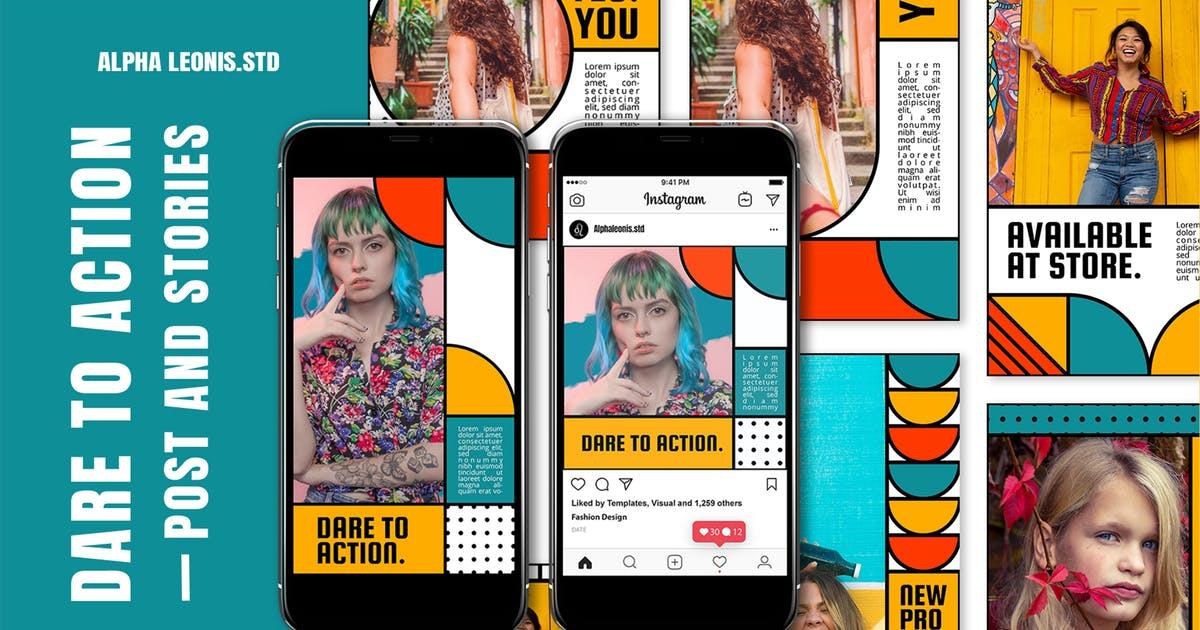 Download Instagram Templates - Dare To Action by alphaleonis_std