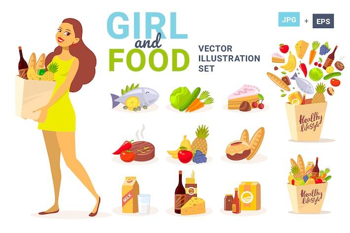 Покупки для женщин и продуктов питания