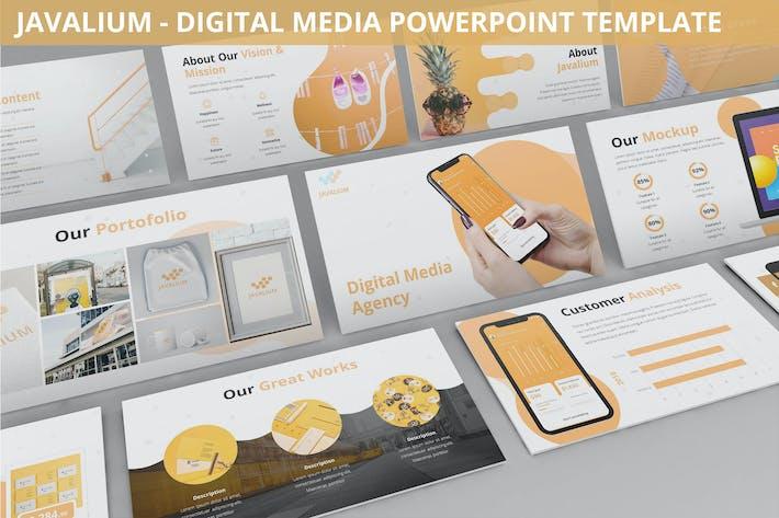 Thumbnail for Javalium - Digital Media Powerpoint Template