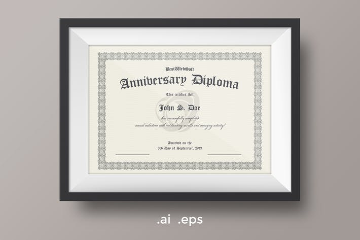 Thumbnail for Anniversary Diploma Certificate