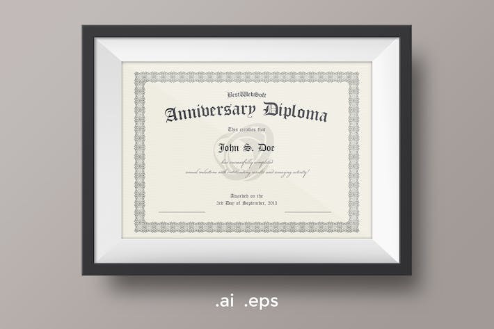Cover Image For Anniversary Diploma Certificate