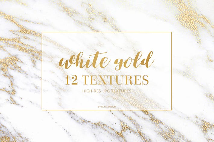 Cover Image For White gold marble texture pattern background