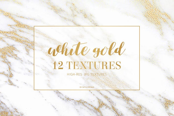 Thumbnail for White gold marble texture pattern background