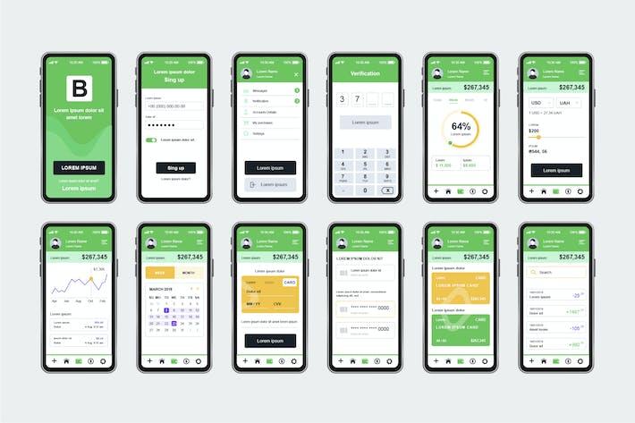 Thumbnail for Banking Unique Mobile App UI Kit