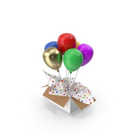 Multicolored Balloons Surprise Box