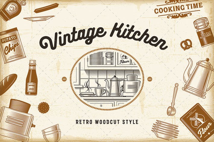 Thumbnail for Vintage Kitchen Set