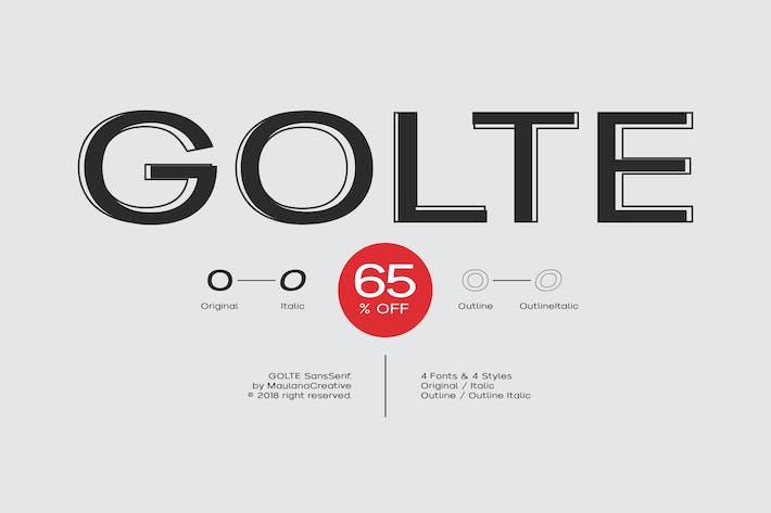 Thumbnail for Golte Sans Font