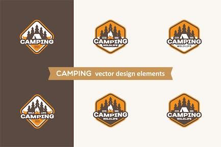 Etiquettes de camping