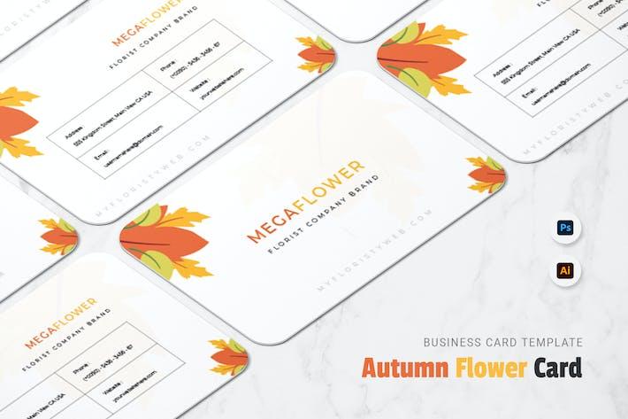 Thumbnail for Autumn Flower Business Card
