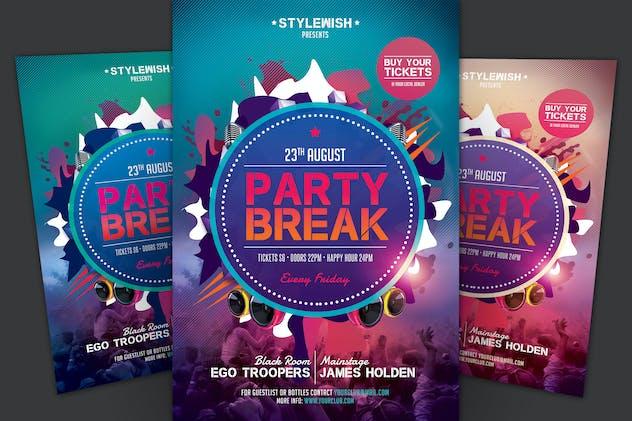 Party Break Flyer