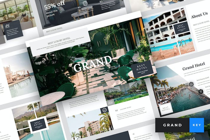 Cover Image For Grand - Hotel Keynote Template