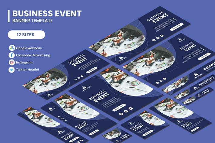 Thumbnail for Business Event Google Adwords Banner Template