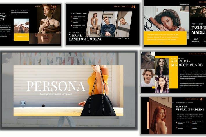 Thumbnail for Pesona Dark Lookbook Powerpoint