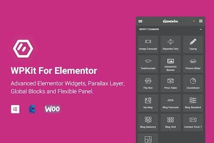 WPKIT For Elementor - Widgets avanzados y Addon