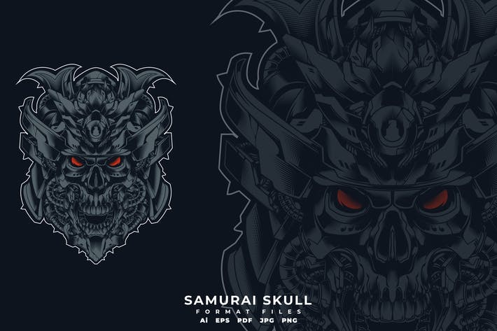 Thumbnail for Samurai Schädel