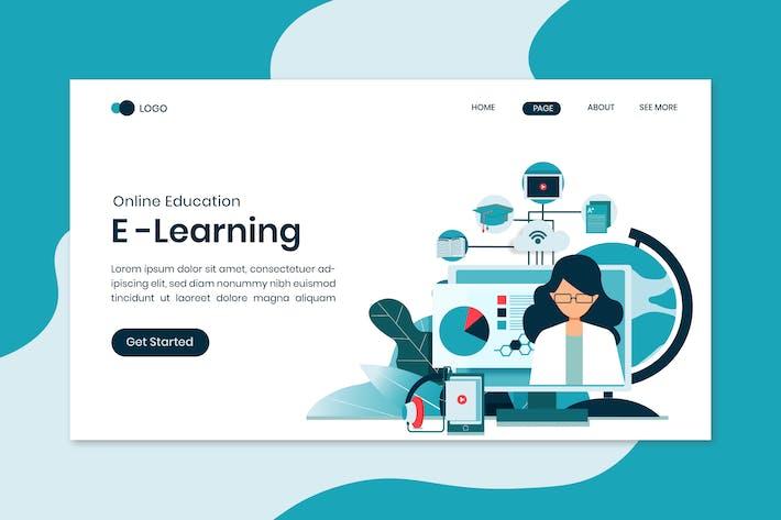 Thumbnail for E-Learning Online Education Startseite