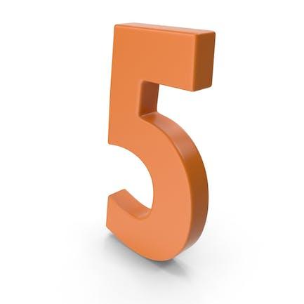 5 Number Orange