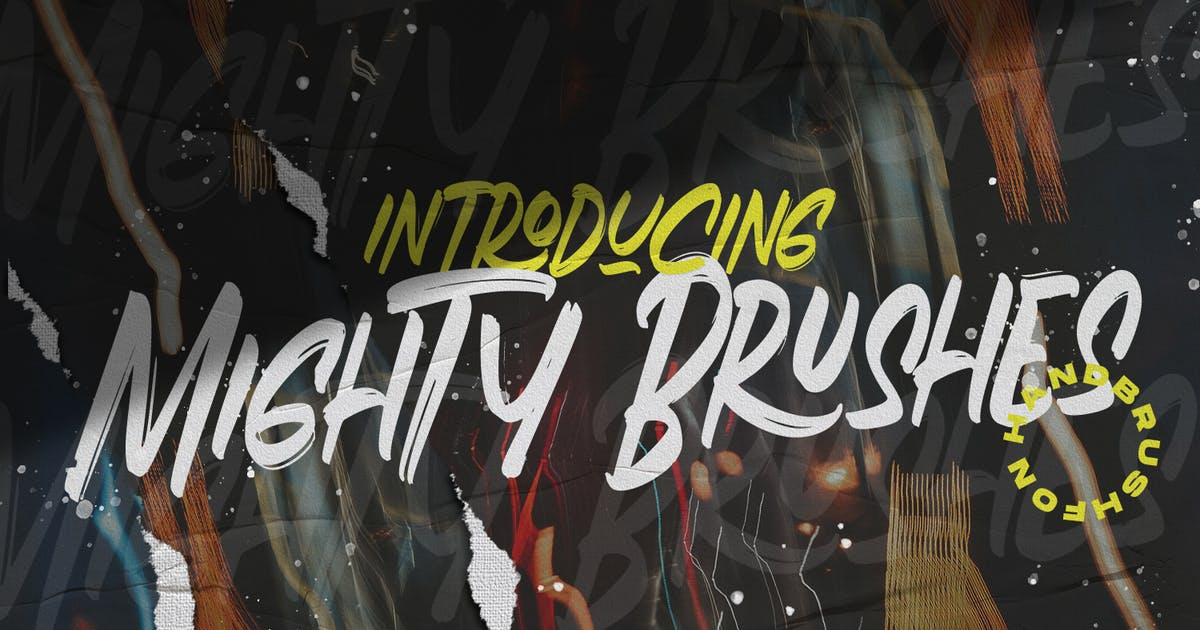 Download Mighty Brush Font by templatehere