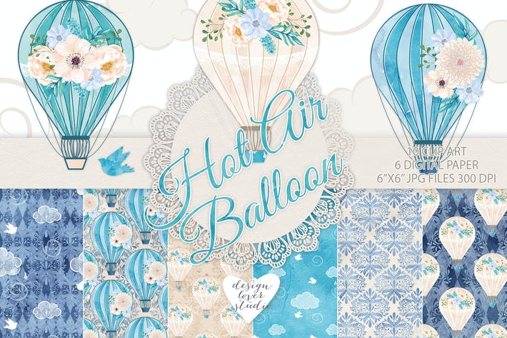 Thumbnail for Hot air balloon blue pack