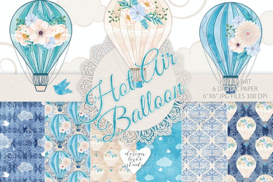 Hot air balloon blue pack