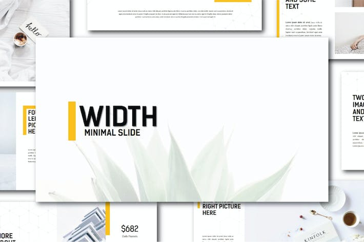 Thumbnail for Width Minimal | Powerpoint Templates
