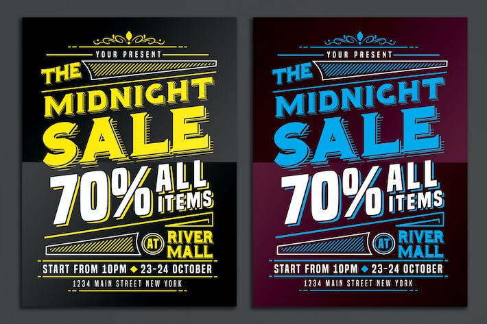 Thumbnail for Midnight Sale Flyer Poster