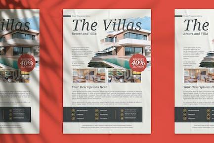 Resort and Villa Flyer