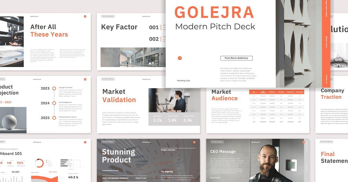 Download Golejra - Modern Pitch Deck Presentation by celciusdesigns