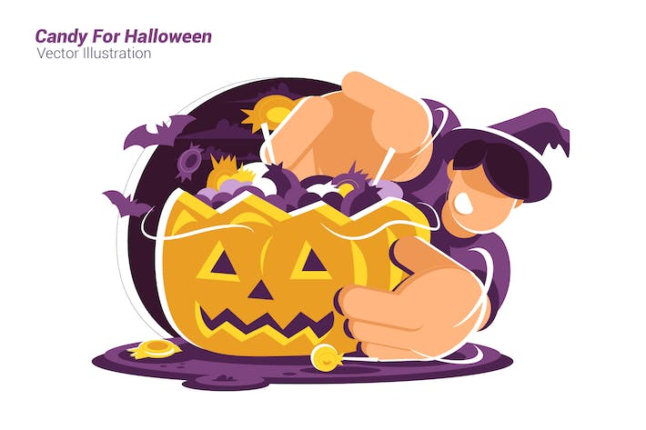 Thumbnail for Candy For Halloween - Vector Illustration