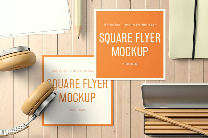 Thumbnail for Square Flyer Mockup - Set 2
