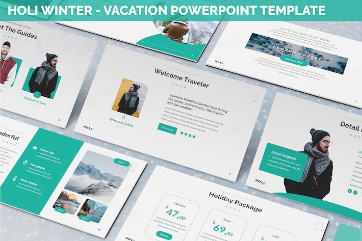 Thumbnail for Holi Winter - Vacation Powerpoint Template