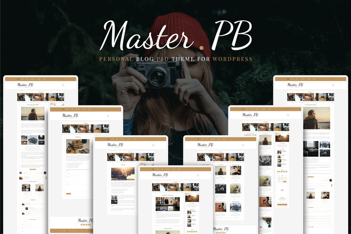 Cover Image For Master PB - Personal Blog PSD