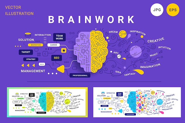 Creative human brain - product preview 2