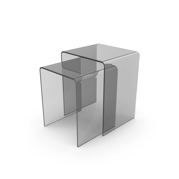 Cover Image for Clear Sliding End Tables