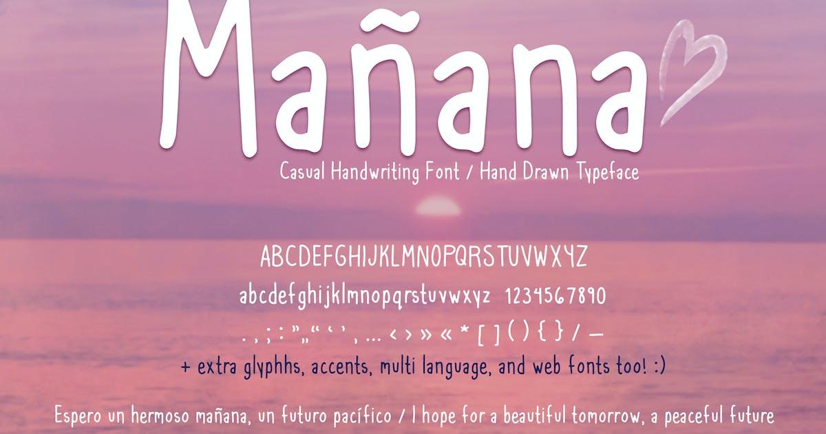 Download Mañana Casual Handwriting Font + Web Fonts by SunshineFonts