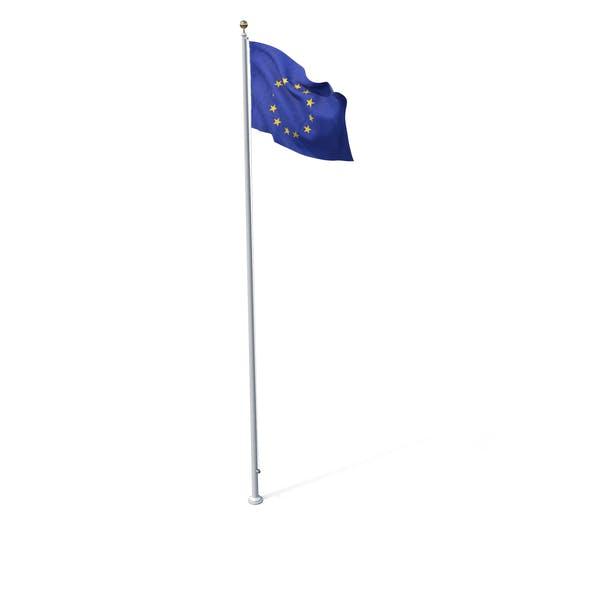 Fahne auf Pole EU