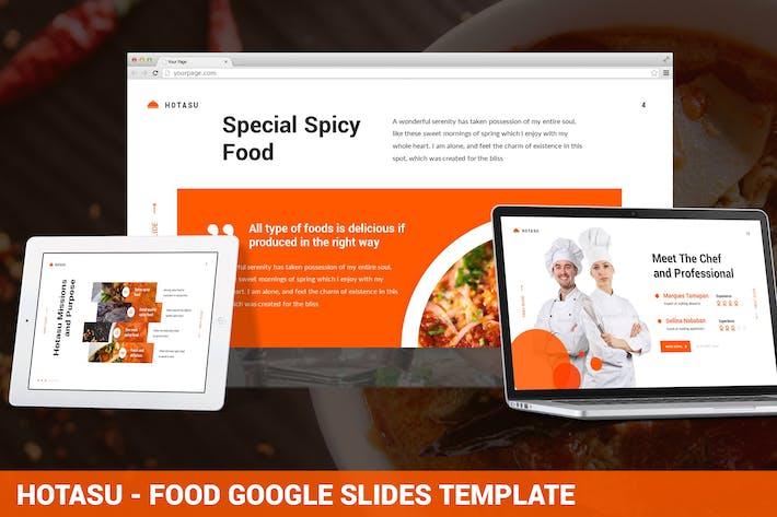 Thumbnail for Hotasu - Food Google Slides Template